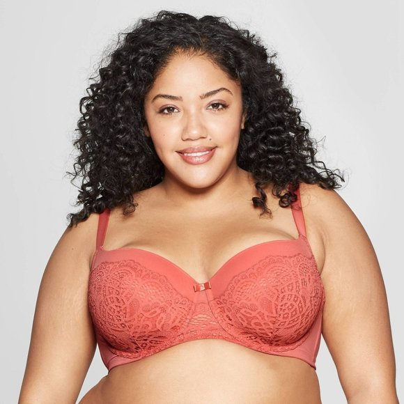 Auden Other - Auden Lightly Lined Balconette Bra Faded Rose